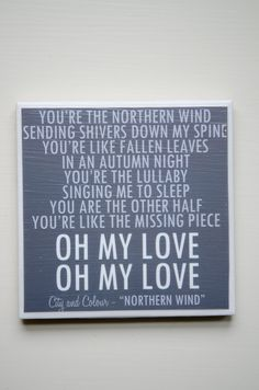 "city and colour ""northern wind"" lyrics coaster"