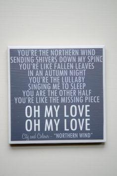 "city and colour ""northern wind"" lyrics coaster"