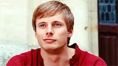 Merlin and Arthur (gif set) Arthur is all grinny and adorable, playfully pushing his younger brother cause secretly he loves the teasing and the idiocy . Its the one thing he can always be sure of.