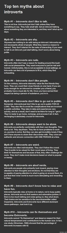 Myths About Introvert People
