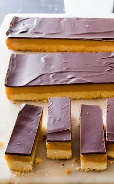 Millionaire's Shortbread. This recipe with a cult-like following has a lot going for it: a crunchy shortbread base, a chewy caramel-like filling, and a shiny snappy chocolate top.
