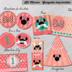 Kit Imprimible Minnie Personalizado, Cumpleaños, Candy Bar - $ 150,00 en MercadoLibre