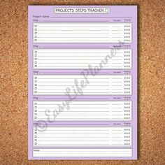 PROJECT PLANNER kit 8.25x11.69 Printable pdf. by EasyLifePlanners