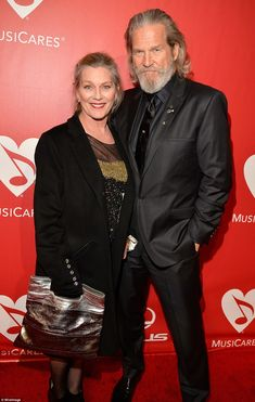 Couple: Jeff Bridges and his wife Susan Geston are seen together at a February 2015 showbi...