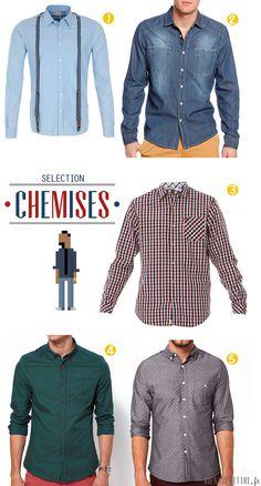MODE HOMME   On a tous des chemises dans notre dressing quelles soient  unies, à a93b1ee00181