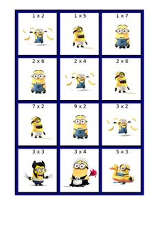Free Minion Math Coloring Pages
