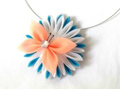 Statement Necklace Kanzashi Butterfly by ScarlettandMaria on Etsy, $25.00