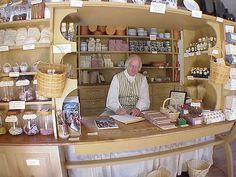 I wouldn't mind having an apothecary like this one at Colonial Williamsburg.