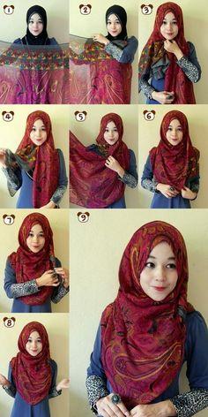 hijab tutorial 2015                                                                                                                                                      More