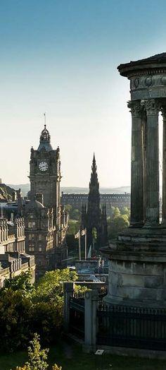 Edinburgh from Calton Hill, Scotland!