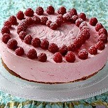 Hallonmoussetårta (glutenfri) - Recept - Tasteline.com