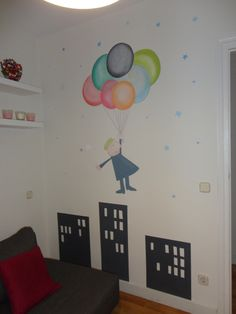 Mural infantil pared habitacion ni os - Paredes con dibujos ...