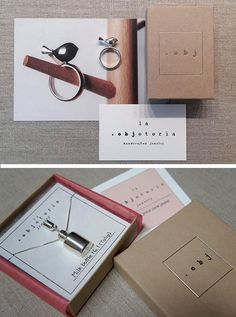 Pretty jewelry packaging from laobjeteria.com
