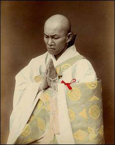 Buddhist priest. Another classic 1880s albumen studio image by KIMBEI KUSAKABE of Yokohama. Okinawa Soba, via Flickr