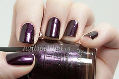 OPI Lincoln Park at Midnight - my most favorite nail polish color ever. And yes, @Megan Zillinger Hossain, it is K-State purple. :)