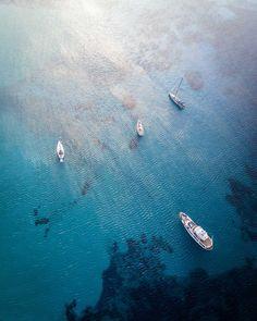 Aegean Sea, Greece Art Print by Dimitar Karanikolov - X-Small Greek Island Tours, Greek Islands, Greece Art, Sea Storm, Santorini Island, Drone Photography, Photography Portraits, Creative Photography, Amazing Photography