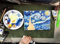 Skill Level: 1 Cookie   Subject: Impasto and Landscape Category: Post Impressionism   Tags: landscape, layering, mediums, and van gogh In this lesson, you will learn... In this step by step video, Ginger will show you how to mix acrylic paint with a heavy gel modeling medium so you will be able to create van …