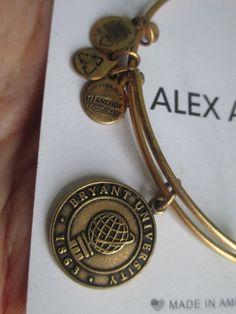 Alex and Ani Bryant University Logo  Rafaelian Gold Bangle Bracelet