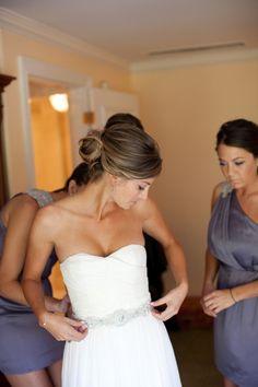 style me pretty - real wedding - usa - california - pasadena wedding - st. gregory armenian apostolic church - bride - getting ready - getting dressed