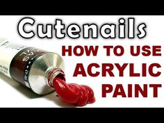How to Use Acrylic Paints for Nail Art ~ by cutenails. **At 2:20: doing the one-stroke technique with two blended colors and a beveled or flat brush**