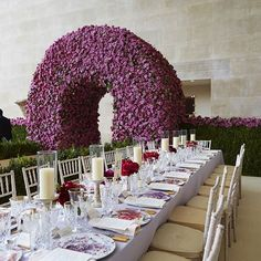 A look inside#May_2016 #MetGala reveals a boxwood hedge and extraordinary #floralarch composed of thousands of lavender #roses. I can only imagine how fragrant the room must have been!