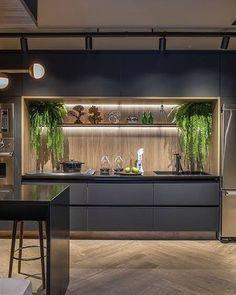 50 Best Small Kitchen Remodel Designs for Smart Space Management - Home & Garden Kitchen Desk Areas, Kitchen Desks, Modern Kitchen Cabinets, Kitchen Cabinet Design, Diy Kitchen, Kitchen Island, Best Kitchen Designs, Farmhouse Style Kitchen, Küchen Design