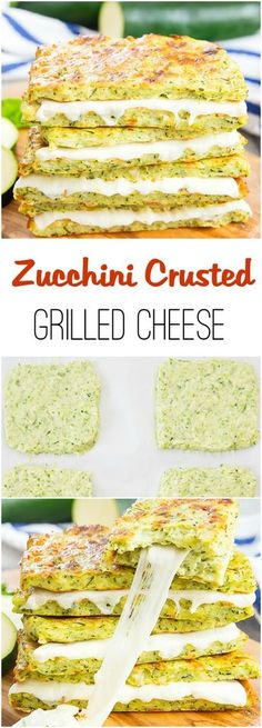 An easy and delicious low-carb alter… Zucchini Crusted Grilled Cheese Sandwiches. An easy and delicious low-carb alternative! Low Carb Keto, Low Carb Recipes, Vegan Recipes, Cooking Recipes, Easy Low Carb Meals, Easy Keto Recipes, Keto Fast Food Options, Healthy Pizza Recipes, Cooking Ham