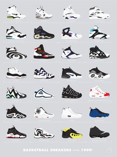 The Coolest Sneakers of the '80s and '90s, Charted  - Esquire.com