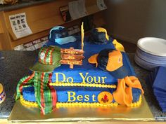 Dreaming In Buttercream Cub Scout Blue And Gold Cake