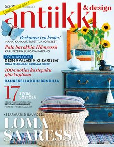 Antiikki & Design 5/2015. Magazine Cover. Styling Irene Wichmann. Photo Kristiina Hemminki, Fotonokka.