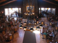 Yellowstone Lodge, Old Faithful Inn.  Such a cool place!