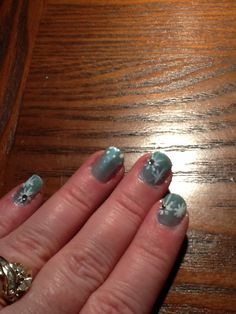 Light blue base with white snowflakes and diamonds