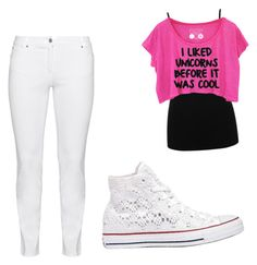 """""""School"""" by leah-42 on Polyvore featuring M&Co, Steilmann and Converse"""