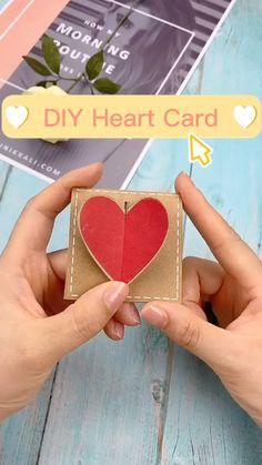 Cool Paper Crafts, Paper Crafts Origami, Fun Crafts, Origami Art, Creative Crafts, Creative Birthday Cards, Diy Birthday, Handmade Birthday Gifts, Diy Crafts Hacks