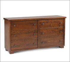 "Sumatra Extra-Wide Dresser - 66"" wide x 20"" deep x 36"" high - Veneer over MDF   Pottery Barn :: $1399"