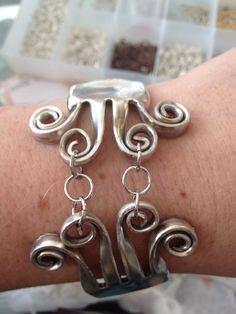 Funky fork bracelet by GoneLoopy on Etsy, $45.00