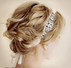 updo look for very short hair Up Hairstyles, Pretty Hairstyles, Wedding Hairstyles, Great Gatsby Hairstyles, Style Hairstyle, Wedding Updo, Wedding Hair And Makeup, Bridal Hair, Medium Hair Styles