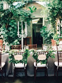 Greenery Wedding Decor | photography by http://jacquelynnphoto.com/ | floral and event deisgn by | La Fete | www.allisonbaddley.com