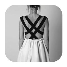 backless dress criss-cross