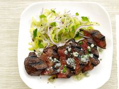 Steak With Blue-Cheese Butter and Celery Salad recipe from Food Network Kitchen via Food Network