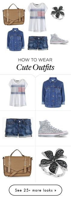 """School outfit it's so cute!!"" by pinkdoggy on Polyvore featuring Topshop, J.Crew, Effy Jewelry and Converse"