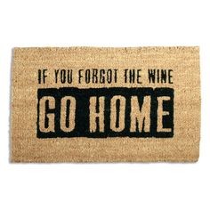 Tag Where'S The Wine? Coir Doormat, Multi