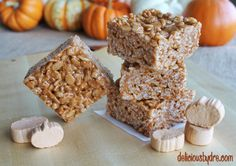 pumpkin spice krispie treats.... WHERE HAVE THESE BEEN ALL MY LIFE!