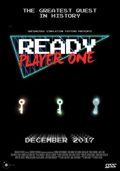 Are you ready? Ready Player One, Retro Waves, Player 1, Typography Inspiration, Movies Showing, Good Movies, Movie Tv, Books, Movie Posters