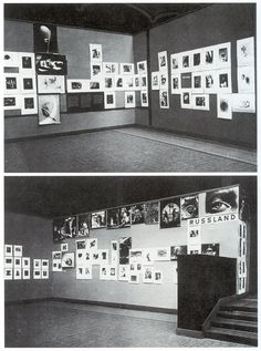 Rooms at the 1929 FiFo exhibition in Berlin.