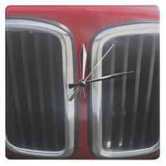 Red BMW Twin Kidneys Grill Wall Clocks from a 635 CSi...
