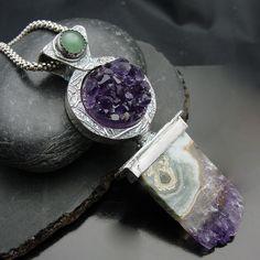 Ice Princess - Fine Silver- Natural Amethyst. $450.00, via Etsy.