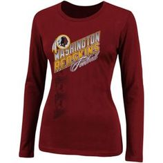 dc24ce42c Washington Redskins Ladies Long Sleeve Shirts