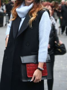 Clasp that clutch #bag #fashion #navy #blue #red #leather #ombre #london