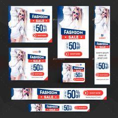 Fashion Banners Bundle - 10 Sets - 160 Banners #Bundle, #Banners, #Fashion, #Sets Web Banners, Web Banner Design, Social Media Template, Social Media Design, Ads Banner, Sale Logo, Fashion Banner, Display Ads, Google Ads